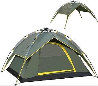 2 x 2,2 m specifikation 2 användning armégrön utomhus 3-4 personer dubbelskikt dubbeldörr automatisk tält säkert och bekvä...
