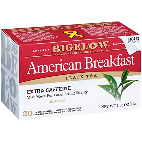 Bigelow American Breakfast Black Tea Bags, 20 Count Box (Pack of 6) Caffeinated Black Tea, 120 Tea Bags Total