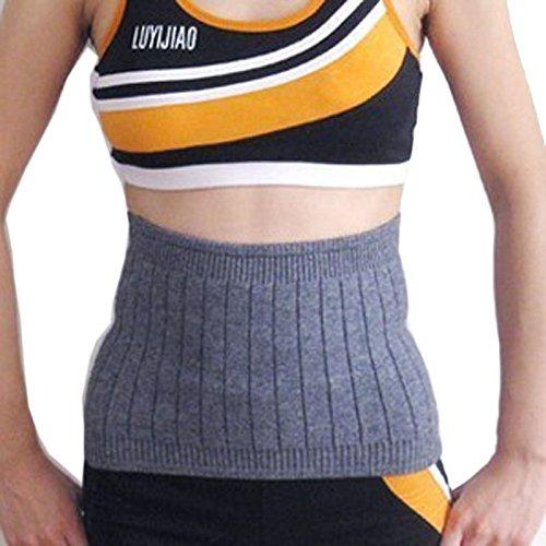 ViewHuge Rückenstützgürtel, Wolle, Kaschmir, elastisch, warm, dünn, Lendenwirbelstütze, Rückenbandage, grau