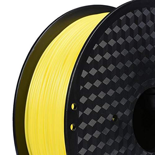DZWLYX Stampante 3D filamento PLA 1,75 Millimetri 1KG plastica filamento Materiale RepRap Createbot/MakerBot for Parti della Stampante 3D / Penna 3D (Color : Yellow)