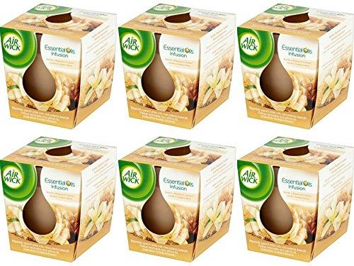 Airwick Air Wick Duftkerze Essential Oil Vanille&brauner Zucker, 6er Pack (6 X 105 g.)