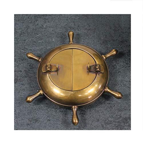 ZNZN Cenicero Cenicero Brass Antiguo Antiguo diseño de Rueda náutica cenicero para Uso Interior al Aire Libre. Cenicero Cigarrillos