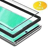 BANNIO für Panzerglas für Samsung Galaxy Note 10 Plus/Note 10+/5G,2 Stück 3D Full Screen Panzerglasfolie Schutzfolie für Samsung Galaxy Note 10 Plus/Note 10+/5G,9H Festigkeit Bildschirmschutzfolie,Schwarz
