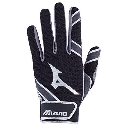 Mizuno MVP Youth Tee Ball Batting Gloves, Black