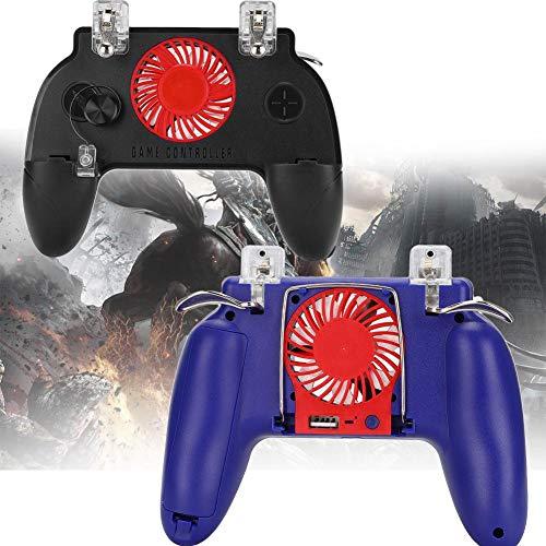 Kafuty LX1 Gamepad Controller Joystick Ergonomisches Design Gamepad mit Lüfter, Federzugklemme Universal für Unter 6,5 Zoll Handy(schwarz)