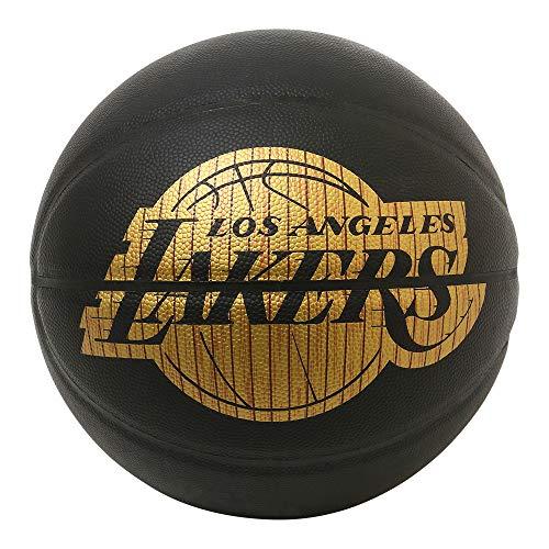 SPALDING(スポルディング) バスケットボール ハードウッドシリーズ レイカーズ 76-606Z ブラック/ゴールド 7号球 バスケ バスケット