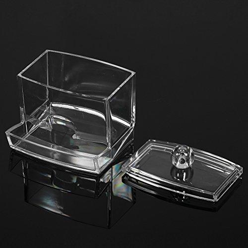 Sugoyi Rangement Facile d'accès pour écouvillons Q-Tip, boîtes à écouvillons, boîtes à Coton-Tige, pour tampons de Maquillage Boules de Coton
