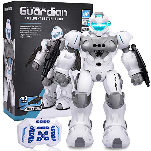 Smart robot for kids, Remote control robot, Programmable dance sing education, gesture control toy for kids 3-5, Birthday present for 4 5 6 7 8 9 years old 8-12 boys and girls, Intelligent war robot