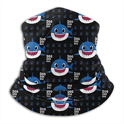 Daddy DOO DOO DOO Shark (Baby Shark Clip Art) - Father's Day, Christmas and Birthday Party Gift Ideas Microfiber Neck Warmer Tube Neck Neck Warmer Soft Headwear Face mask Scarf Cover