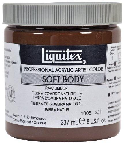 Liquitex Professional Soft Body Pot de Peinture acrylique fluide 237 ml Terre d'ombre naturelle