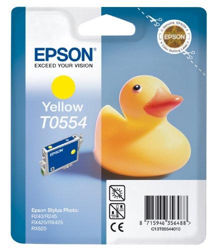 Epson T0554 Tintenpatrone Ente, Singlepack gelb