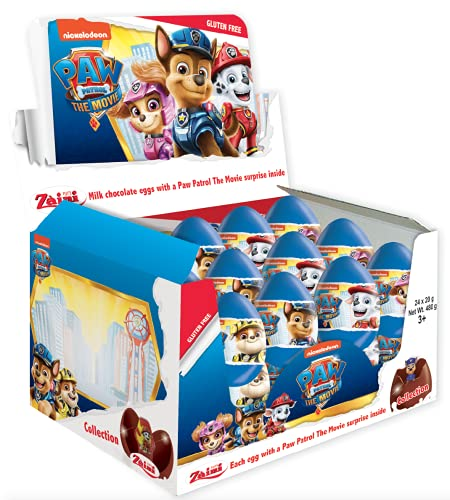 Schokolade Überraschungseier PAW Patrol The Movie 20g, Karton mit 24 Stück