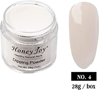 28g/Box Jelly Poly Light Clear White Color Dipping Powder Without Lamp Cure Nails Dip Powder Summer Gel Nail Color Powder Natural Dry (ND064B-B-No.4)