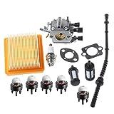 Ouyfilters Carburateur avec joint filtre à air filtre à carburant Ligne Primer ampoule RePower kit pour Stihl Fs120FS200Fs250FS300Fs350Débroussailleuse Weedeater Brosse Cutter