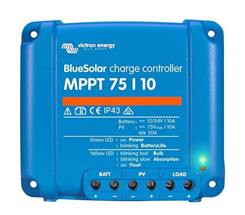 Victron Energy 8719076025306 Contrôleur de charge solaire, MPPT, 75/10, 75/15 et 100/15, bleu