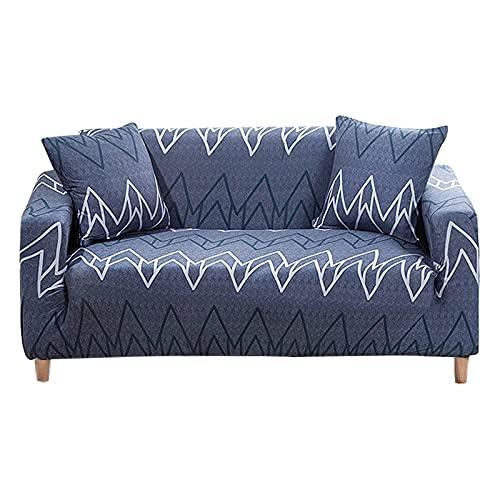 Fundas elásticas Funda de sofá elástica para Sala de Estar Funda de sofá seccional Funda de sillón en Forma de L A12 3 plazas