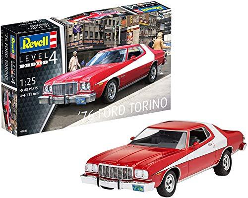 Revell-76 Ford Torino Scala 1: 25 Modello Kit Veicolo, Colore Rosso, 7038