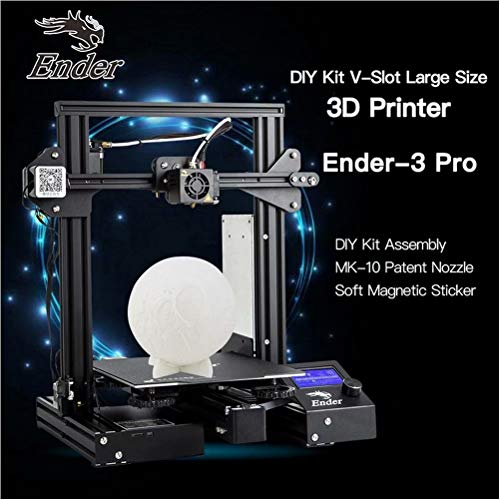 Laecabv Creality Ender 3 Pro 3D Printer with Newly Soft Magnetic Sticker FDM Resume Print Power Off Heat 5 Min - Print Size 220x220x250mm