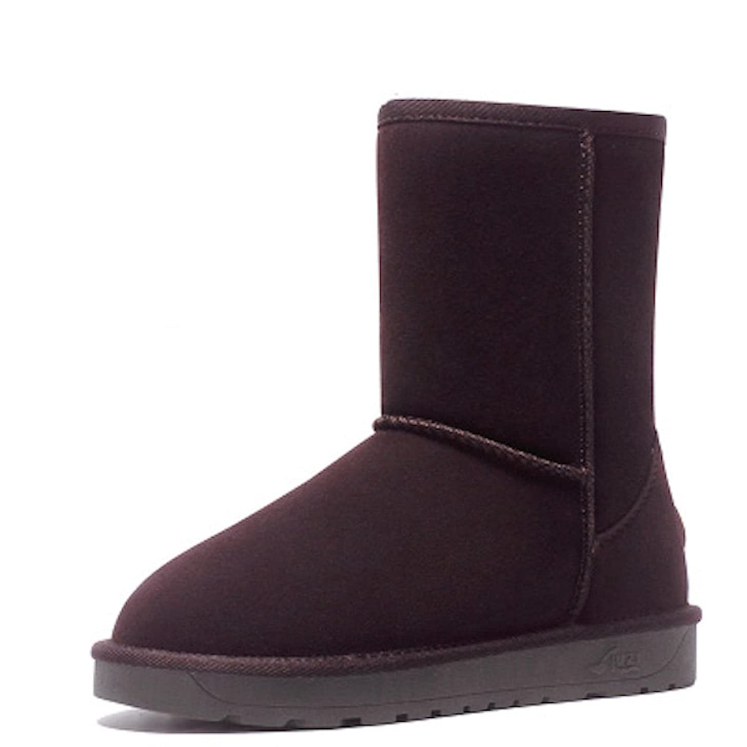 拒否郊外ホームブーツ ショートブーツ レディース 革 ウォーキングシューズ 革靴 レザー カジュアル 軽量 (23, ブラック)
