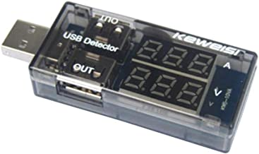 ULTECHVO Multímetro de Testador de Tensão e Corrente Fácil de Utilizar Medidor de Capacidade de Energia e Monitor, Carrega...