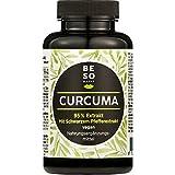 BeSoHappy® Extracto de Cúrcuma 95% + Pimienta Negra (90 cápsulas para 3 meses) con Ingredientes muy Eficaces – Probado en Laboratorio y Aprobado en Alemania