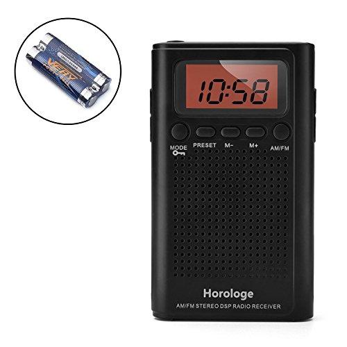 Horologe AM FM Pocket Radio Including Battery