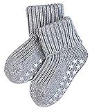 FALKE Unisex Baby Catspads Cotton B HP Hausschuh-Socken, Blickdicht, Grau (Light Grey 3400), 62-68