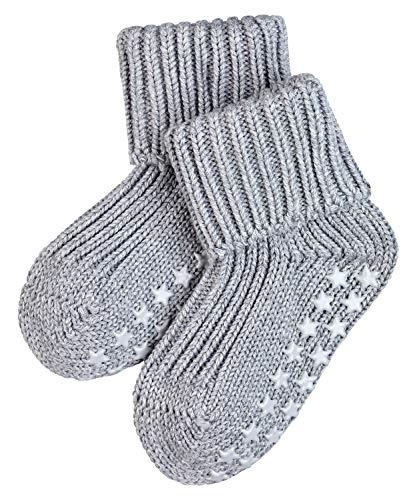 FALKE Unisex Baby Catspads Cotton B HP Hausschuh-Socken, Blickdicht, Grau (Light Grey 3400), 74-80