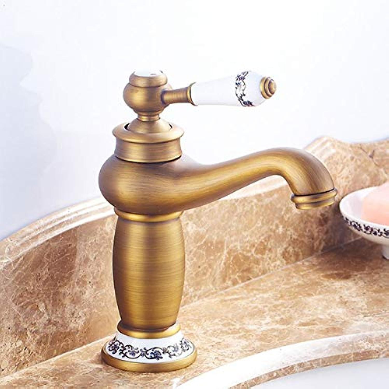 ZHFJGKR&ZL Spültischarmatur Badezimmer-Bassin-Hhne Plattform angebrachter Bad-Mischer-Labormischer-Toiletten-Hahn hei und kalt