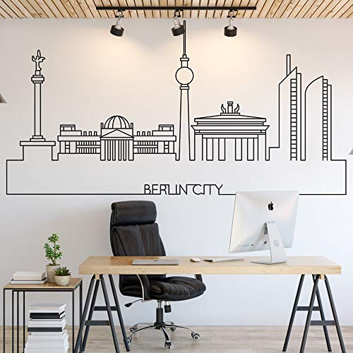mlpnko Stadtkleber Vinyl Wassertapete Home Decoration Office Klassenzimmer Dekoration,CJX13002-37x71cm