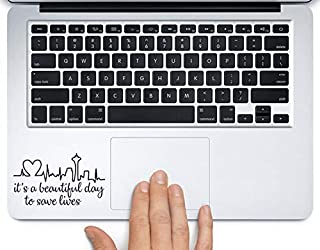 Derek Shepherd Quote It's a Beautiful Day Printed Trackpad Clear Vinyl Decal Sticker Compatible with Apple MacBook Pro Air 11