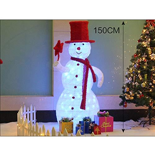 YANXS Navidad LED Decoration Resplandecer Muñeco de Nieve Luminoso Figura con Bufanda...