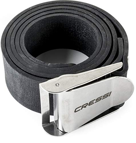 Cressi Quick-Release Elastic Belt with Metal Buckle, Black