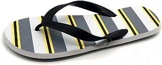 FlipFlops SandalsMen's striped flip-flopsandals flat bottom non-slip sandals outdoor beach slippers clip foot flip flops