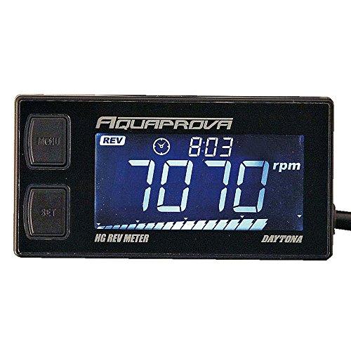 デイトナ AQUAPROVA (アクアプローバ) バイク用 タコメーター デジタル 防水 バックライト HGシリーズ レブメーター 72815