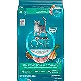 Purina ONE Sensitive Stomach, Sensitive Skin, Natural Dry Cat Food, Sensitive Skin & Stomach Formula - 22 lb. Bag