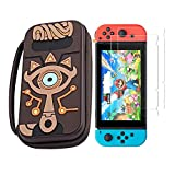 Carrying Case for Nintendo Switch Case Zelda,Travel Silicone Hard Shell Bag Pouch with Link Sheikah Slate Eye for Nintendo Switch Console Joy-con Joy-straps Accessories   Waterproof /Portable