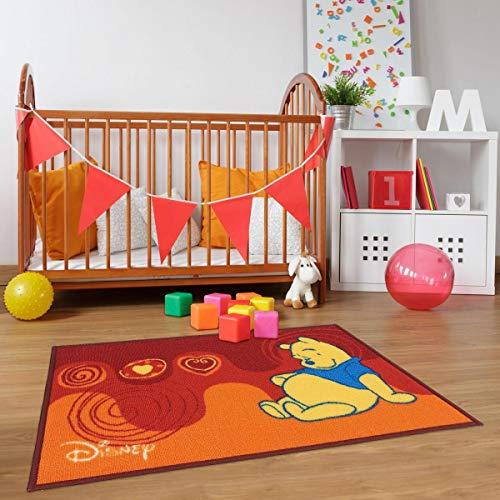 Winnie Assis - Alfombra infantil y Disney, rojo, 50 x 80 cm