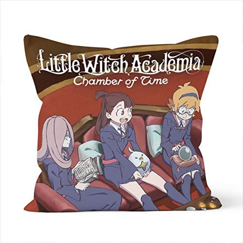 Little Witch Academia - Funda de almohada decorativa, firme, sofá, niños, funda de almohada para interior y exterior, 45 x 45 cm, diseño de anime
