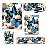 Back to School Supplies,Kids Butterfly Spiral Notebooks,Hard Cover Spiral Note Pad (Notebook Ruler Bookmark Set)