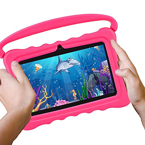 MIALX Kids Tablet PC 7' HD | Quad Core Android 16GB | Tablets with Wifi Bluetooth Camera | Parental Control And Kids Software Pre-Installed | Kids Edition Tablets for Educationl Games with Case