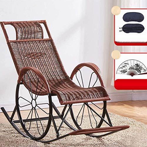 Ligstoel Tuinstoelen Opvouwbare ligstoel Zero Gravity Lounge Chair Fauteuils voor terras, PE rotan balkonfauteuil met verstelbare gewatteerde hoofdsteunen Outdoor ligstoel (kleur, goud), zwartbruin