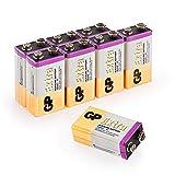 GP - Pack de 8 Pilas 9V alcalinas (MN1604 / 6LR61) - Duración y Rendimiento excepcional - 9 Voltios / PP3 / 6LR61 / MN1604