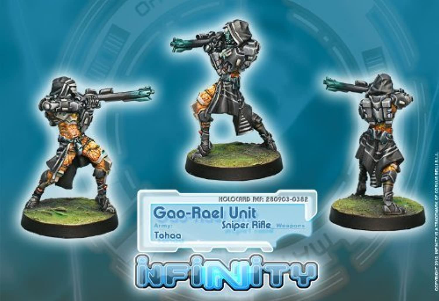 Infinity  Tohaa  GaoRael Unit (Sniper Rifle) by Corvus Belli