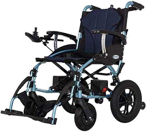 WHEELCHAIR Safe Wheelchair for Disabled Elderly and Old Man,Easy to Drive,Portable Lightweight Electric Power Wheelchair, Foldable Duty Medical Scooter Self Propelled Wheelchair for Elderly Handicapp