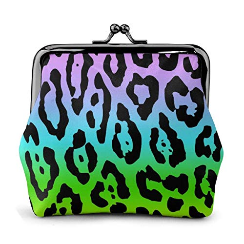 Monedero de Leopardo Colorido para Mujer, pequeño Bolso de Cambio portátil, Bolso...