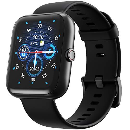 RENPHO Smartwatch mit Herzfrequenzmessung, Schlafindex, Fitness Tracker mit 1.57-Zoll Touchscreen, IP68 Wasserdicht, Kompatibel mit Android und iOS Smartphones, Sportuhr für Damen und Herren