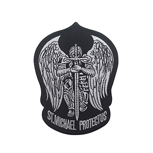 St.Saint Michael Protect Us Modern Morale Embroidered Patch Tactical Military Army Operator Patches Applique for Coat Jacket Gear Cap Hat Backpack