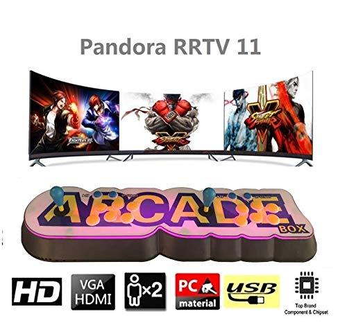 MEANSMORE Consola Retro Arcade Games, Videojuego clásico retro, Pandora Box 11Máquina Arcade con Arcade Stick y Botón, Conéctese con VGA y HDMI, 1280x720 Full HD (3003 juegos)
