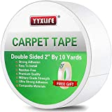 YYXLIFE Double Sided Carpet Tape for Area Rugs Carpet Adhesive Rug Gripper Removable Multi-Purpose Rug Tape Cloth for Hardwood Floors,Outdoor Rugs,Carpets Heavy Duty Sticky Tape,2Inch x 10 Yards,White